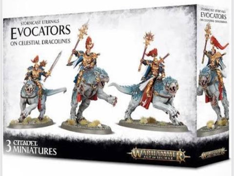 Evocators on Celestial Dracolines - Stormcast Eternals (Age of Sigmar)
