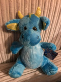 BLUE PLUSH DRAGON 8.5""