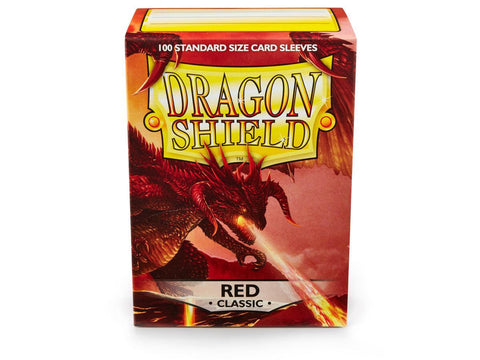 Dragon Shield Classic Red 100 Standard Sized Card Sleeves: www.mightylancergames.co.uk
