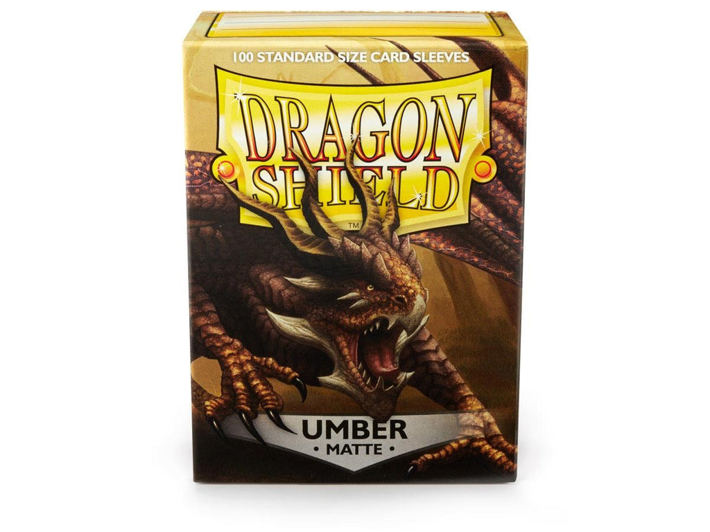Dragon Shield  Umber Matte – 100 Standard Size Card Sleeves