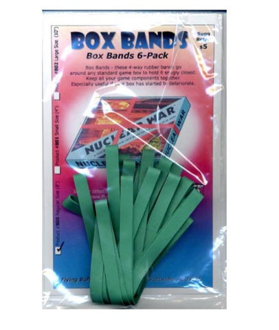 Box Bands: Regular Size Green -6 pack
