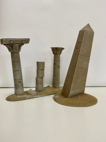 Battlefield in a Box: Obelisk and Pillars Sandstone (BB907)