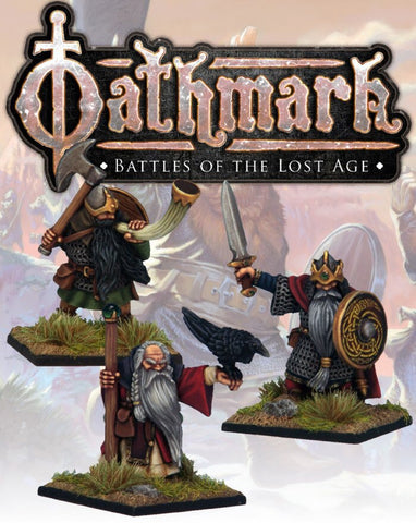 Dwarf King, Wizard & Musician - Oathmark Oak 101 :www.mightylancergames.co.uk