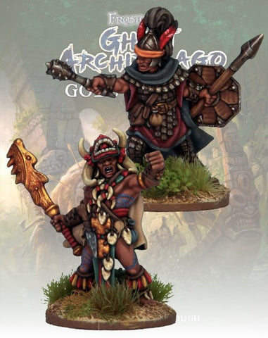 Totem Warrior & Vanguard -  FGA324 (Frostgrave Archipelago) :www.mightylancergames.co.uk