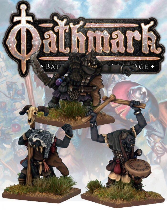OAK103 - Great Goblin, Shaman and Drummer - Blister Pack (Oathmark)