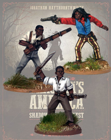 DRAC114 - Congregation Gunfighters - Blister Pack (Dracula's America - Shadows of the West) :www.mightylancergames.co.uk