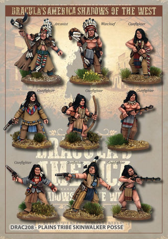 DRAC208 - Plains Tribe Skinwalker Posse - Boxset (Dracula's America - Shadows in the West) :www.mightylancergames.co.uk