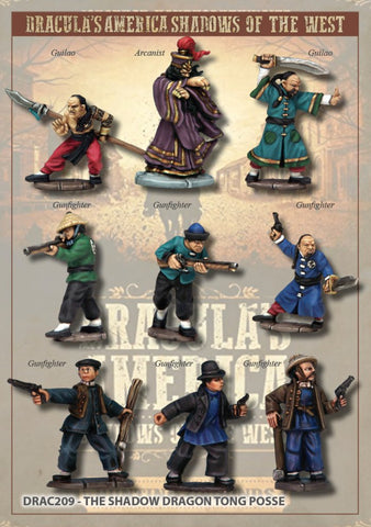 DRAC209 - The Shadow Dragon Tong Posse - Boxset (Dracula's America - Shadows in the West) :www.mightylancergames.co.uk