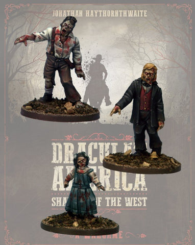 DRAC123 - Zombie Townsfolk 1 - Blister Pack (Dracula's America - Shadows of the West) :www.mightylancergames.co.uk