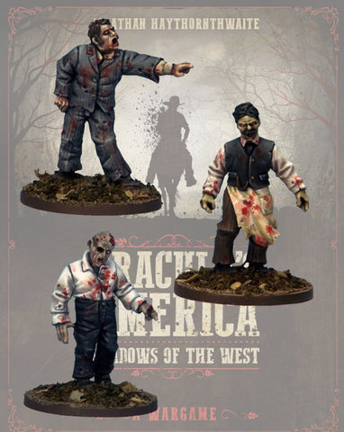 DRAC124 - Zombie Townsfolk 2 - Blister Pack (Dracula's America - Shadows of the West) :www.mightylancergames.co.uk