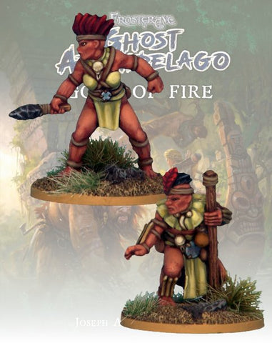 Tribals Pearl Diver & Guide  - FGA312 (Ghost Archipelago - Gods of Fire) :www.mightylancergames.co.uk