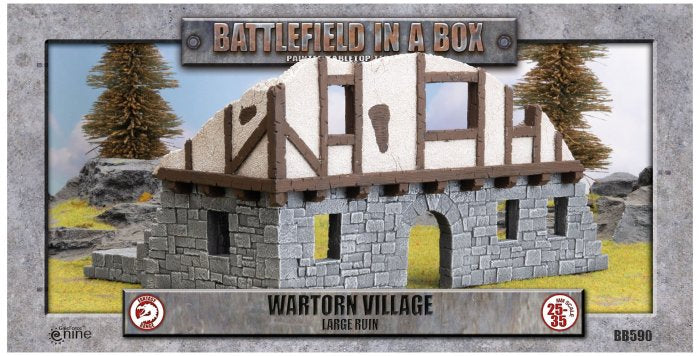 Large Ruin: Wartorn Village - Batttlefield in a Box (BB590)