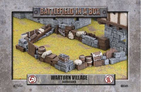Barricades: Wartorn Village - Batttlefield in a Box (BB591)