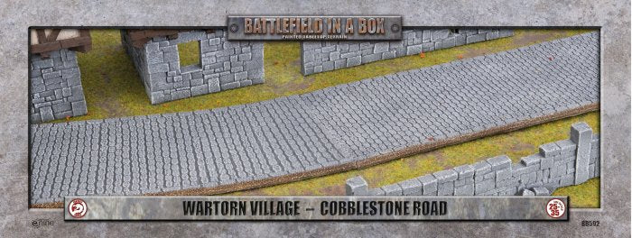 Cobblestone Road: Wartorn Village - Batttlefield in a Box (BB592)