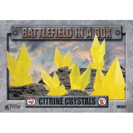 Citrine Crystals (Yellow) - Batttlefield in a Box (BB594)