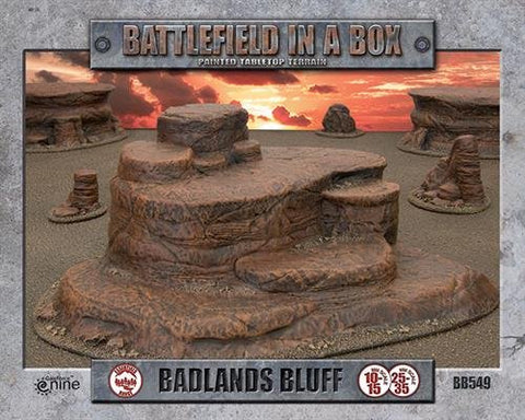 Badlands Bluff - Batttlefield in a Box (BB549): www.mightylancergames.co.uk