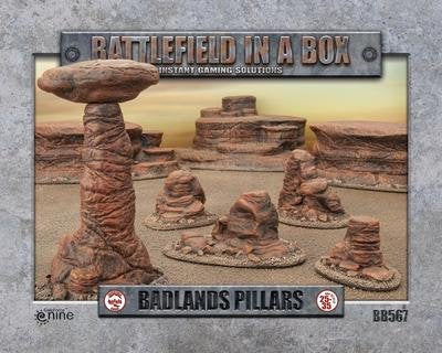 Badlands Pillars- Batttlefield in a Box (BB567): www.mightylancergames.co.uk