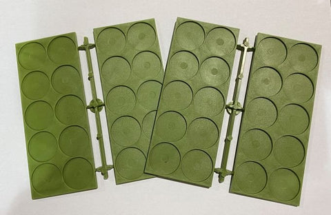 Renedra: 25mm Diameter Recessed Movement Tray - 10 Spaces per Tray [green]