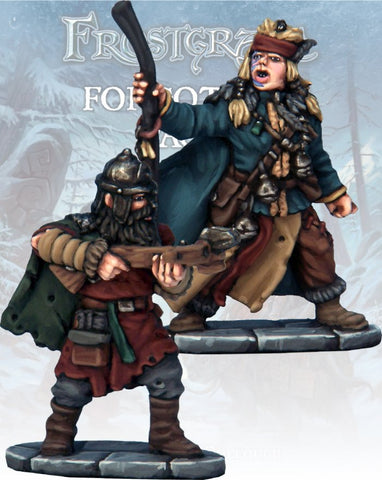 Frostgrave - Barbarian Apothecary & Marksman: www.mightylancergames.co.uk