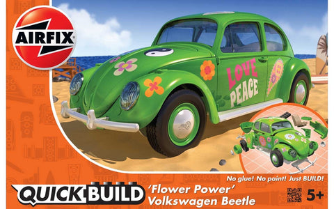 "VW Beetle ""Flower Power"" (Airfix Quickbuild) :www.mightylancergames.co.uk"