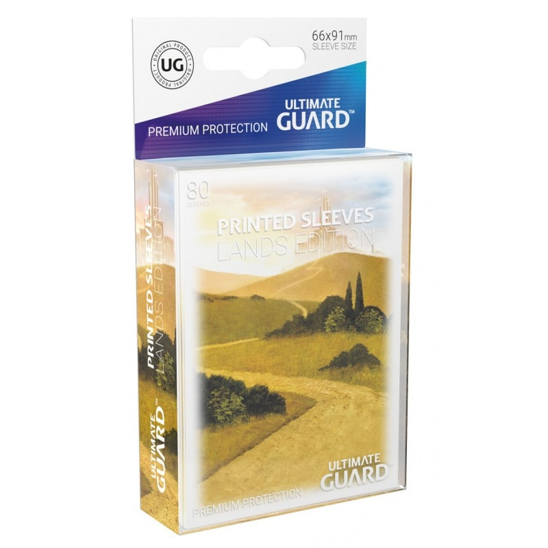 Lands Edition Card Sleeves: Plains I