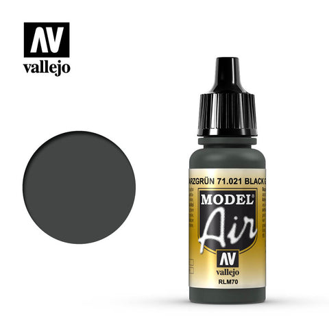 71.021 Black Green RLM70 - Vallejo Air Paint