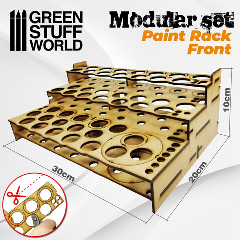 Modular Paint Rack - FRONT -9846- Green Stuff World
