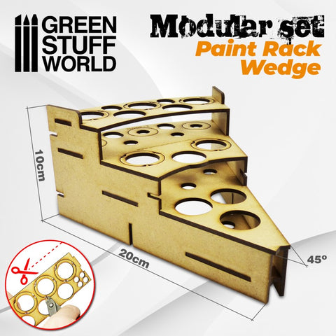 Modular Paint Rack - WEDGE -9848- Green Stuff World