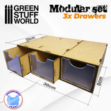 Paint Rack Modular Set 3x Drawers -2170- Green Stuff World