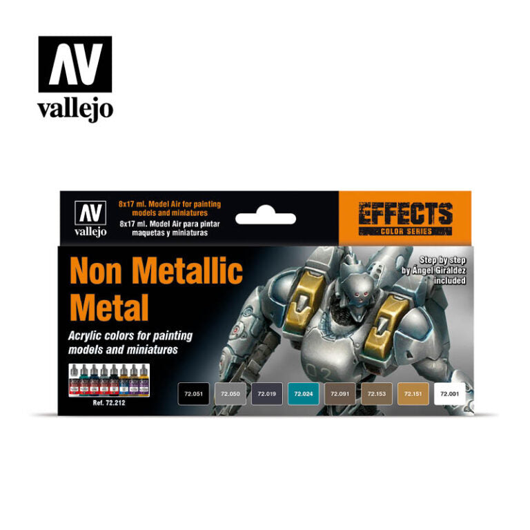 AV Vallejo Game Color Set - Non Metallic Metal :www.mightylancergames.co.uk