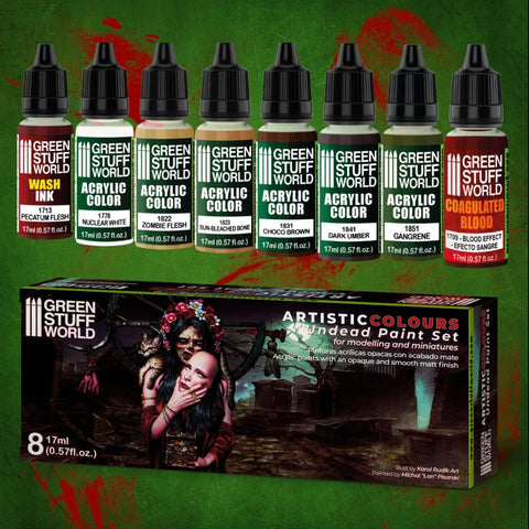 Paint Set - Undead- 10121- Green Stuff World
