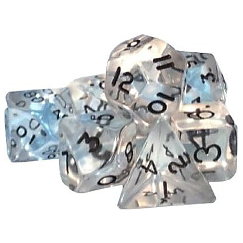 Gem D20 Poly Dice set - Clear