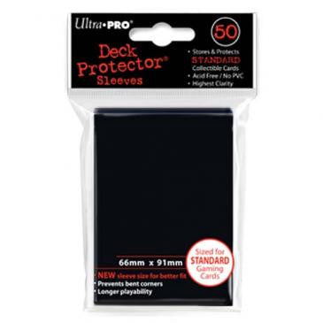 50ct Black Standard Deck Protectors Sleeves (66mm x 91mm)