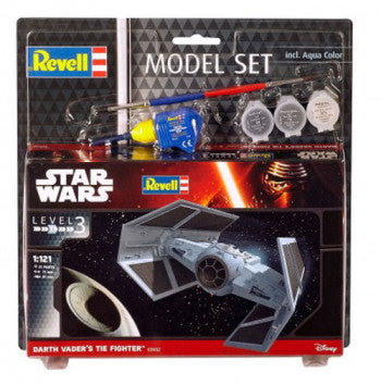STAR WARS MODEL SET DARTH VADER'S TIE FIGHTER (1:121)