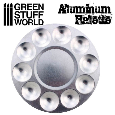 Round Aluminium Mixing Palette -1694- Green Stuff World