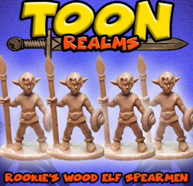 Rookies Wood Elf Spearmen - Toon Realms: www.mightylancergames.co.uk