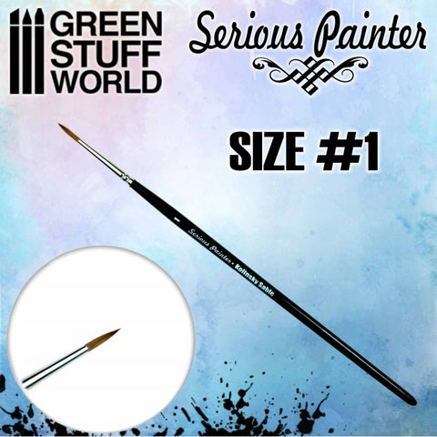 Serious Painter Kolinsky Sable Brush - Size 1 - GSW