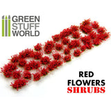 Shrub Tufts - RED - 1366 - Green Stuff World