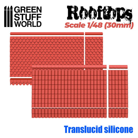 Rooftops Silicone Moulds 1/48- Green Stuff World - 2198