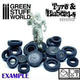 Silicone moulds - Tyres and Hubcaps-2042- Green Stuff World