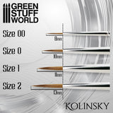 Size 1 -SILVER SERIES Kolinsky Brush 2354- Green Stuff World