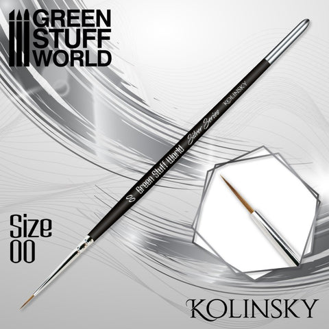 Size 00 -SILVER SERIES Kolinsky Brush - Green Stuff World