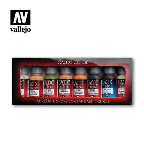AV Vallejo Model Color Set - Skintones (x8): www.mightylancergames.co.uk