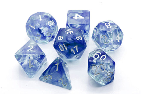 Storm Dice Set D20 Poly Dice set - Blue