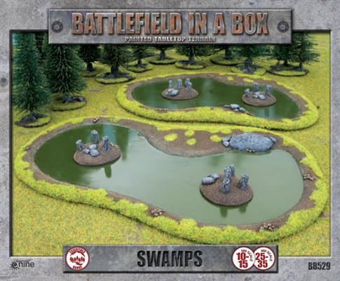 Swamps - Battlefield in a Box (BB529) :www.mightylancergames.co.uk