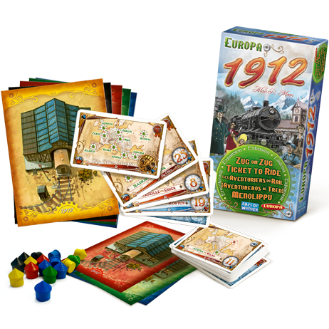 Ticket to Ride - Europa 1912 (Board Game Expansion) :www.mightylancergames.co.uk