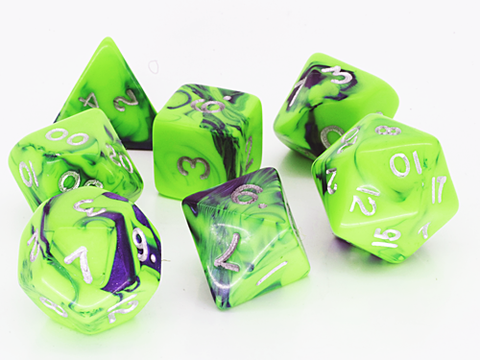 Toxic D20 Poly Dice set - Green