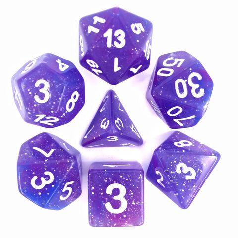 Galaxy D20 Poly Dice set - Blue Purple