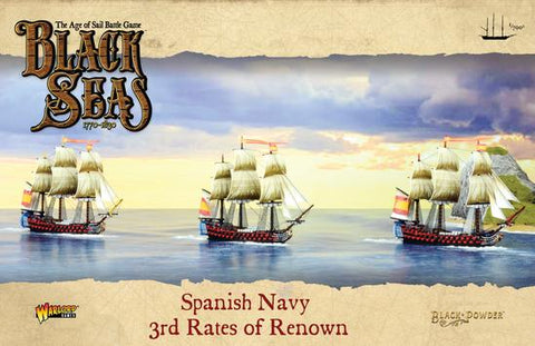 Spanish Navy 3rd Rates of Renown (Black Seas) :www.mightylancergames.co.uk
