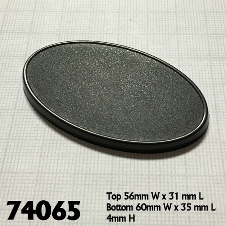 74065: 60mm x 35mm Oval Gaming Base